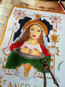 Saint Angelina art work in progress