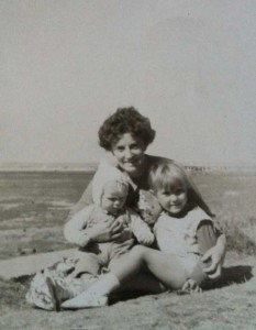 Joyce with Sandra (baby) and Sharon